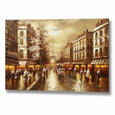 Paris Street Scene Canvas Art