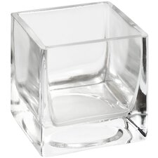 Small Glass Square Tealight Holder