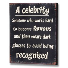 Celebrity Wall Plaque