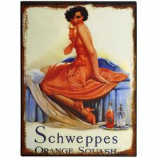 Schweppes Orange Squash Wall Art