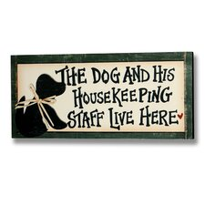 Dog Staff Sign