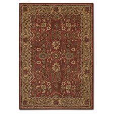 Pera All Over Mashhad Crimson/Fawn Rug