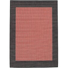 Recife Checkered Field Terra Cotta Indoor/Outdoor Rug