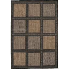 Recife Summit Black Cocoa Indoor/Outdoor Rug
