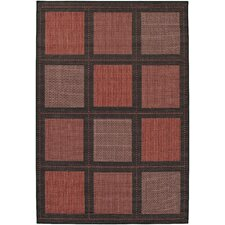 <strong>Couristan</strong> Recife Summit Terra Cotta/Black Rug