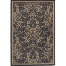 Recife Garden Cottage Black Indoor/Outdoor Rug