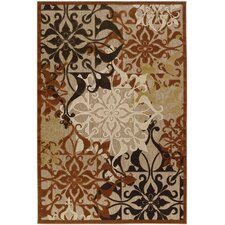 Urbane Gatesby Tan/Terracotta Indoor/Outdoor Area Rug