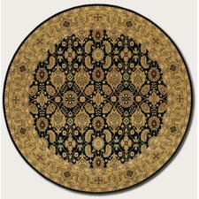 <strong>Couristan</strong> Royal Kashimar All Over Vase Black Rug