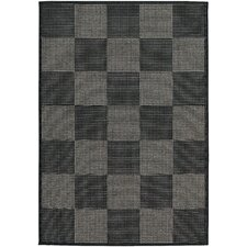 Tides Concord Black/Grey Indoor/Outdoor Area Rug