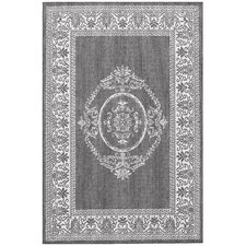 Recife Antique Medallion Grey/White Indoor/Outdoor Rug