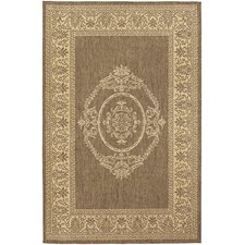 <strong>Couristan</strong> Recife Natural/Cocoa Antique Medallion Rug