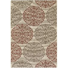 Five Seasons Cream/Coral Red Montecito Rug
