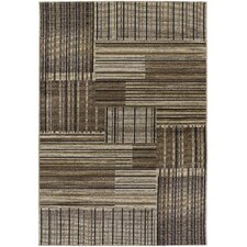 Dolce Beige/Black Trattoria Indoor/Outdoor Rug