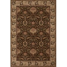 Everest Chocolate Herati Palm Rug