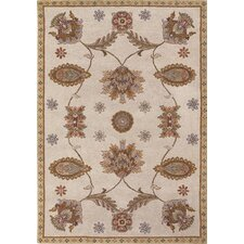 Dynasty Tan All Over Persian Vines Rug