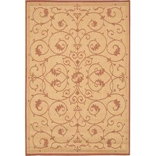 Recife Veranda Terracotta & Natural Indoor/Outdoor Rug
