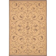 Recife Veranda Natural & Cocoa Indoor/Outdoor Rug