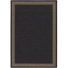 Recife Black Wicker Stitch Rug