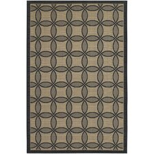 Five Seasons Black Retro Clover Rug