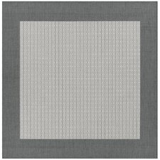Recife Checkered Field Grey/White Indoor/Outdoor Area Rug