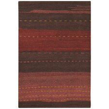 Oasis Seashore Ruby Red Area Rug