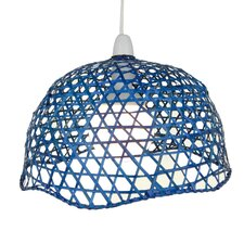 Lacquered Bamboo Dome Shade