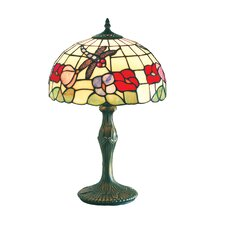 Beige Dragonfly Tiffany Glass Table Lamp