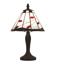 Ruby Leaf Tiffany Twig Table Lamp