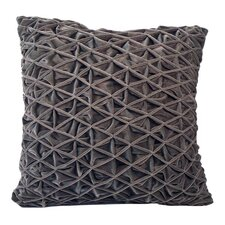 Diamond Pleat Velvet Square Pillow