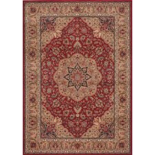 <strong>Shaw Rugs</strong> Inspired Design Antique Manor Red Rug