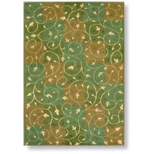 Reverie Swirl Green Rug