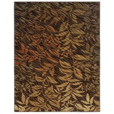 <strong>Shaw Rugs</strong> Centre Street Flourish Brown Rug