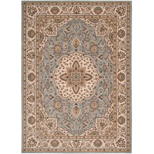 <strong>Shaw Rugs</strong> Arabesque Easton Blue Smoke Rug