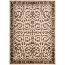 <strong>Shaw Rugs</strong> Arabesque Juliard Ivory Cream Rug