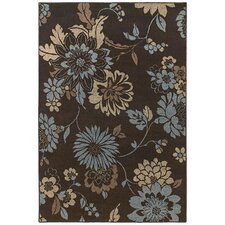 <strong>Shaw Rugs</strong> Concepts Flora Vista Brown/Blue Rug