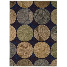Modernworks Biometric Navy Rug