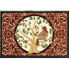 Home for the Holidays Partridge in A Pear Tree Novelty Rug