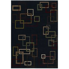 <strong>Shaw Rugs</strong> Inspired Design Cubist Black Rug