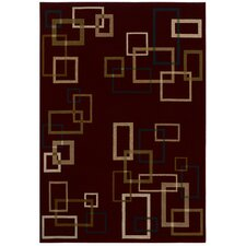 <strong>Shaw Rugs</strong> Inspired Design Cubist Red Rug
