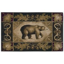<strong>Shaw Rugs</strong> Reflections Bear Country Novelty Rug