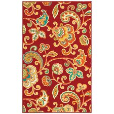 Al Fresco Red Paisley Rug