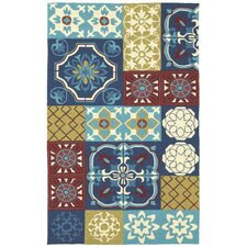 <strong>Shaw Rugs</strong> Garden Craft Blue Tile of Paradise Rug