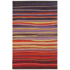Loft Red Candy Stripes Rug