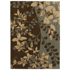 Pacifica Blue Smoke Flora Bella Rug