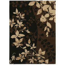 <strong>Shaw Rugs</strong> Pacifica Cannon Black Flora Bella Rug