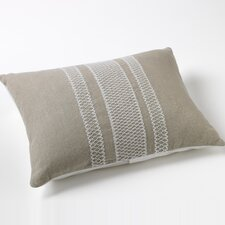 Labyrinth Embroidered Natural Linen/Organic Cotton Decorative Pillow