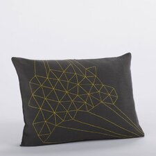Delicate Triangles Embroidered Linen Decorative Pillow