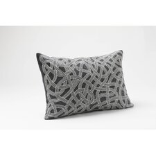 Endless Embroidered Linen Decor Pillow