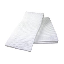 "<strong>MU Kitchen</strong> MUmodern 24"" Waffle Dishtowel in White (Set of 2)"