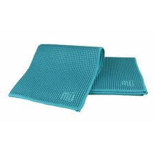 "MUmodern Waffle 12"" x 12"" Microfiber Dish Cloth in Sea Blue (Set of 3)"
